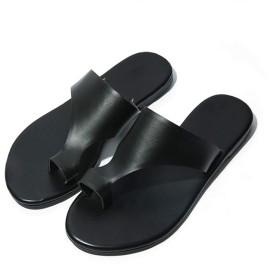 シューズ ファッション フラットヒールの指ピンチカジュアルビーチシューズ怠惰な女性の靴黒スリッパ女性スリッパ 快適 (サイズ : 40)