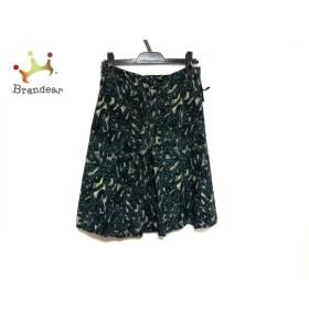 ルイヴィトン スカート サイズ38 M レディース 美品 グリーン×ライトグレー×イエロー  値下げ 20190915