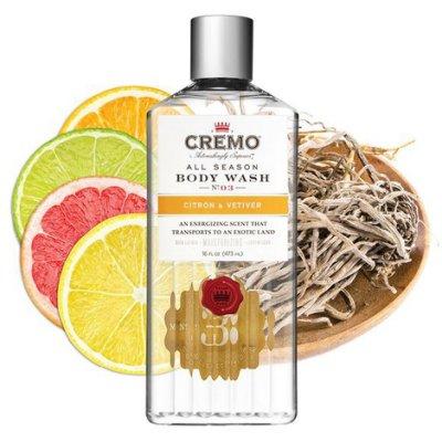 美國 Cremo - No.3 柑橘香根草 男士沐浴露 / 沐浴乳