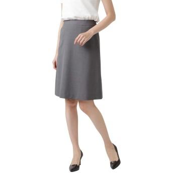[ニューヨーカー] ウォッシャブル コードストライプ Aラインスカート ミディアムグレー 13号 512151610313