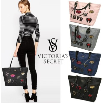 VICTORIAS SECRET Everything Tote ヴィクトリアシークレット トートバッグ ママバッグ 大きめ パッチ 4色展開