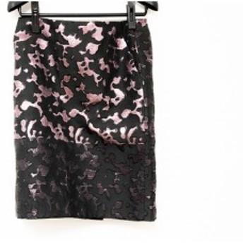 アドーア ADORE スカート サイズ38 M レディース 美品 黒×ピンク ラメ【中古】20190724