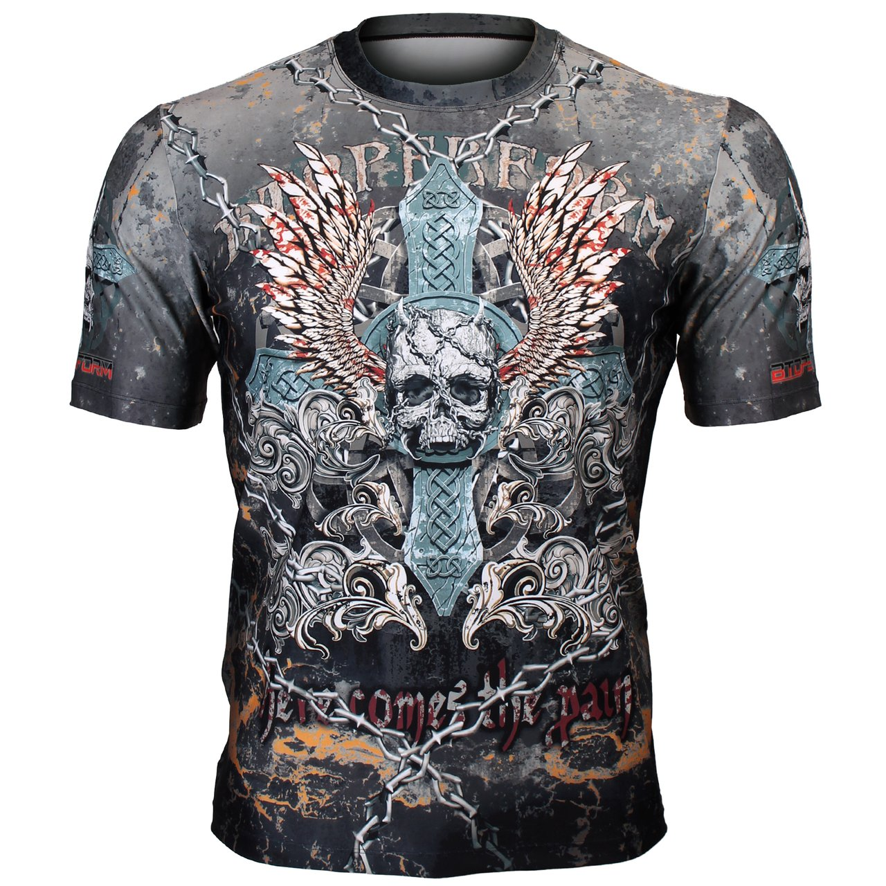 Btoperform Surf Full Graphic Loose-Fit Crew Neck T-Shirts FR-359