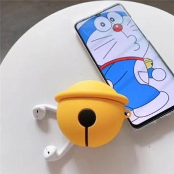 ドラえもんのベルAirpods保護カバー 可愛いアニメ厚くiPhonexアップルワイヤレスBluetoothヘッドセットシリコンカバー男女用