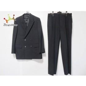 ジェイプレス J.PRESS ダブルスーツ メンズ 黒 ピークドラペル/肩パッド/ネーム刺繍 新着 20190809