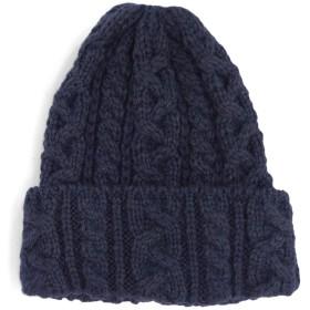 (ハイランド2000)Highland2002 アルパカ&ウール ニット帽 Alpaca British Wool Bobcap,NAVY