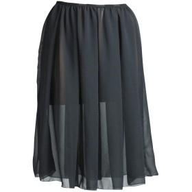 (ペチコート屋)シフォン シンプルペチコート 62cm丈 M~LL(80~105cm) ブラック