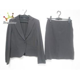 ニジュウサンク 23区 スカートスーツ サイズ40 M レディース 美品 ダークブラウン 新着 20190809