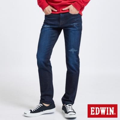 EDWIN 503 大尺碼 基本水洗刷色 窄管牛仔褲-男-酵洗藍