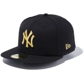 【メーカー取次】 NEW ERA ニューエラ 59FIFTY MLB NY ブラックXゴールド 11308572 キャップ(ブラックXゴールド 表記7 1/8)
