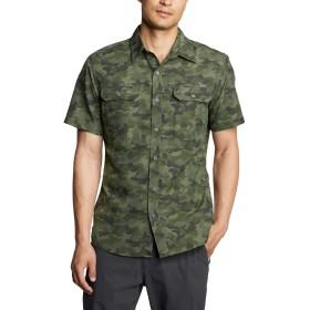[エディー・バウアー] Eddie Bauer トラベックス(R)半袖マウンテンプリントシャツ 半袖シャツ メンズ (スプリグ M)