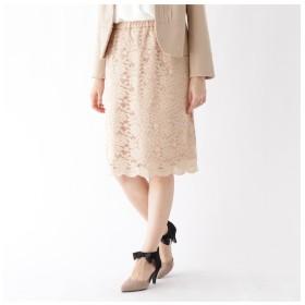 【クチュール ブローチ/Couture brooch】 【WEB限定サイズ(LL)あり】ストレッチレースタイトスカート