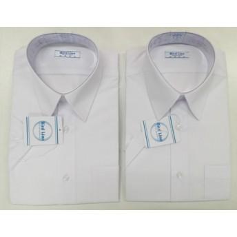 男子用 白 半袖 スクールYシャツ 2枚組 150~180 B体 001110 (160B)