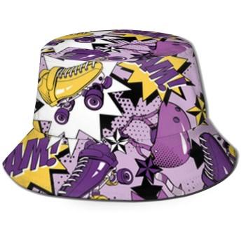 Roller Skateバケットハット ハット 帽子 紫外線対策 サファリハット カジュアル スポーツ メンズ レディース プレゼント UVカット つば広 おしゃれ 可愛い 日よけ 夏季 小顔効果