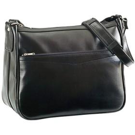 ショルダーバッグ メンズ B5F 日本製 豊岡製鞄 斜めがけ ビジネス b5 33cm 舟形 黒 ブラック CWH190704Q 黒 F