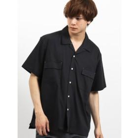 【on the day:トップス】ポケット付きオープンカラー半袖シャツ
