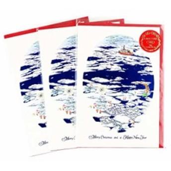クリスマス ミニサンタ カード 3枚セット[S-327-AM](流氷)