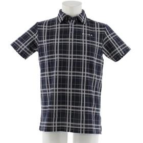 フィドラ FIDRA メンズ 半袖ポロシャツ 吸汗速乾 UV ロゴ刺繍 fda0315 (L(L), ネイビー(NV))