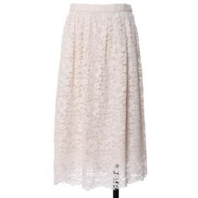 (ef-de/エフデ)《Maglie White》デイジーレースギャザースカート/レディース ホワイト