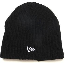 (ニューエラ)New Era ニットキャップ ニット帽 黒 ベーシック 11322053 ブラック/ホワイト SOFT BEANIE SOLID