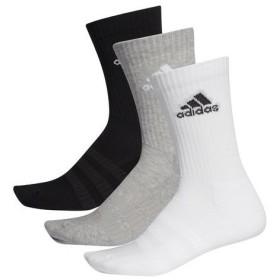アディダス adidas メンズ レディース ソックス 靴下 3足組 パフォーマンス3Pクルーソックス FXI66 DZ9355 ミディアムグレイヘザー/ミディアムグレイヘザー