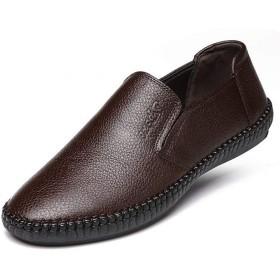 [ヤク] メンズ靴 シューズ ローファー メンズ ドライビングシューズ 軽量 ラウンドトゥ カジュアルシューズ 28.0cm ビジネス カジュアル 大人 散歩 メンズシューズ 男性 歩くやすい 靴 シューズ ブラウン クッション 滑り止め ソフト 夏
