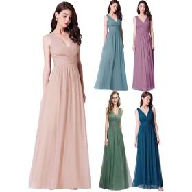 Ever-Pretty イブニングドレス ロングドレス ワンピース 演奏会 ウェディング パーティー お呼ばれ 結婚式 花嫁 二次会ドレス