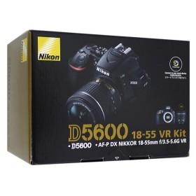 【中古】Nikon デジタル一眼レフカメラ D5600 18-55 VR レンズキット 元箱あり