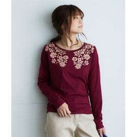 長袖プリントTシャツ (Tシャツ・カットソー)(レディース)T-shirts
