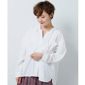 【ダブルネーム/DOUBLE NAME】 フード付きBIGシャツ