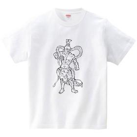[itaxes] ハテナポップ 仁王うんぎょう(Tシャツ・ホワイト)(Mサイズ) (tsukamotojunko)