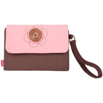 レデース クリエイティブ コインケース キャンバス 可愛い 花柄 パスケース 財布 小銭入れ ボックス型 収納財布 チェーン、 ボタン型 パタン1