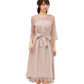 プールヴー ドレス ワンピース パーティードレス 結婚式 二次会 レディース ローズピンク XLサイズ 13号 3071