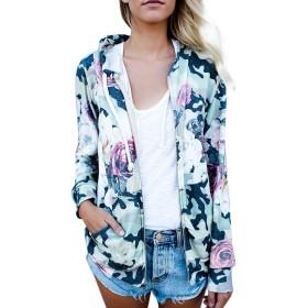Mhomzawa チュニック 人気 レディース ジャケット ファッション 上着 長袖 ジャッパ 花柄 民族風 女性フラワープリント ショート トップス ロングスリーブ スエット シャツ