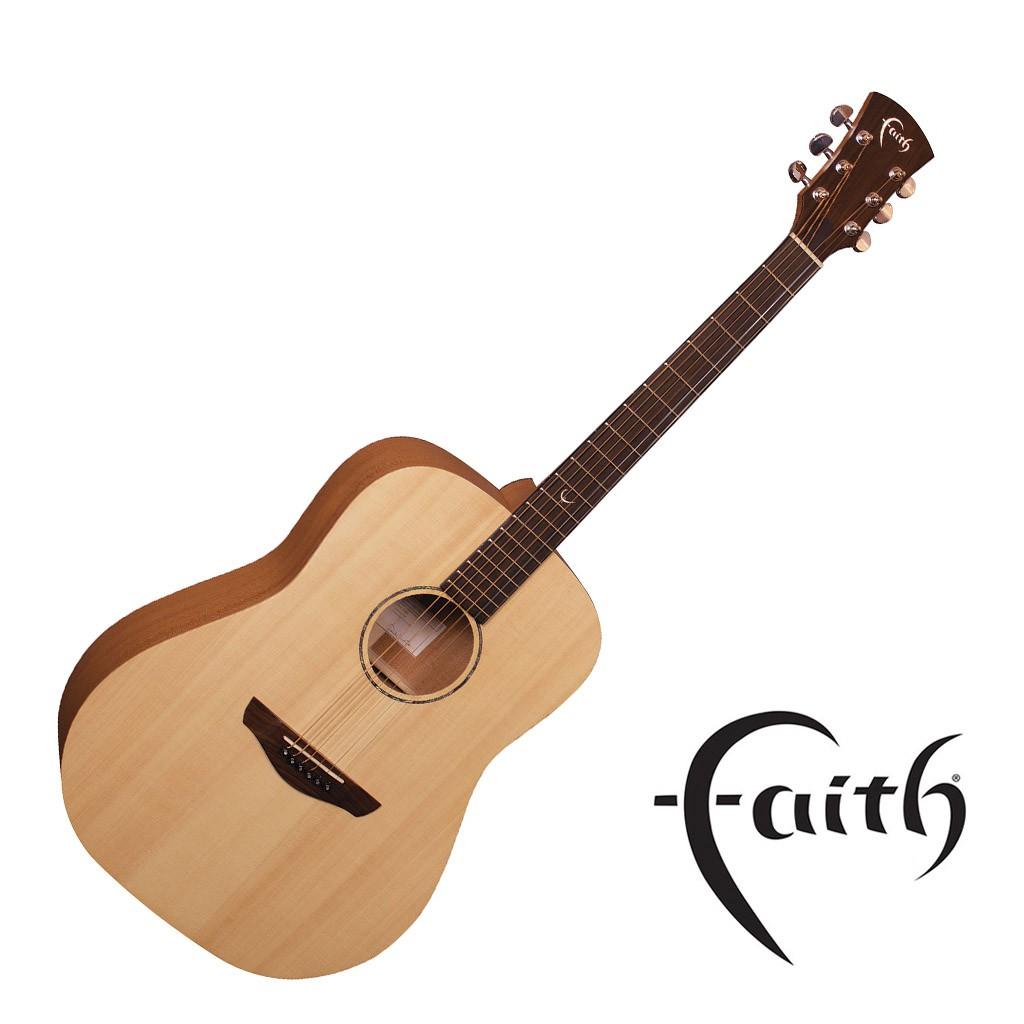 Faith FKS民謠吉他 雲杉面板 桃花心背側 全單板 - 【黃石樂器】