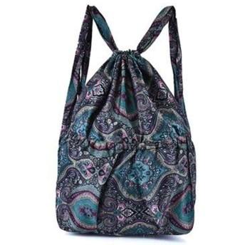 LQQSTORE バックパック リュック ファッション女性プリントショルダーバッグひょうたんレジャーバッグ大容量トラベルバッグ シンプルカジュアルナイロンバックパック レディバックパック 女性