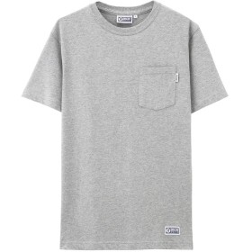 DISCUS(ディスカス) 綿100% ポケ付きTシャツ R7019-326 メンズ LGグレー:L