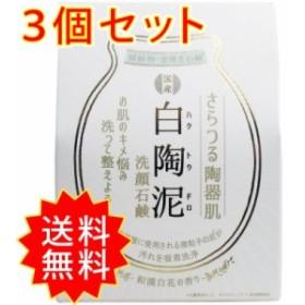 3個セット 白陶泥洗顔石鹸 和漢白花の香り 100g ペリカン石鹸 まとめ買い 通常送料無料