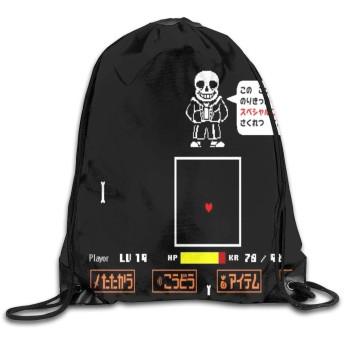 ジムサック ナップサック アンダーテール バッグ リュック スポーツ用バッグ 通学 運動 旅行に最適