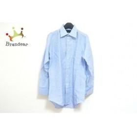 セリーヌ CELINE 長袖シャツ メンズ ライトブルー×白 ストライプ/イニシャル刺繍 新着 20190809