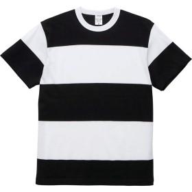 【メーカー取次】 United Athle ユナイテッドアスレ 5.6オンス ボーダー Tシャツ [5625](XL ブラック/ホワイト(15.0cm))
