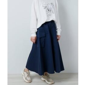 【ダブルネーム/DOUBLE NAME】 ドロストポケットフレアスカート
