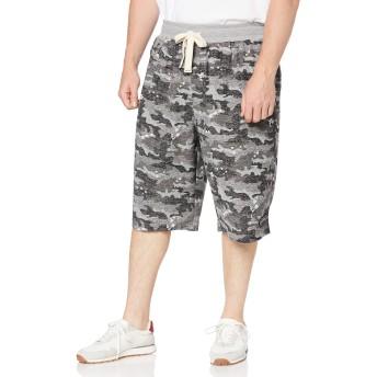 [マンチェス] パンツ 大きいサイズ インレイ裏毛カモフラ柄ハーフパンツ メンズ 1011549230 ブラック 日本 4L (日本サイズ4L相当)