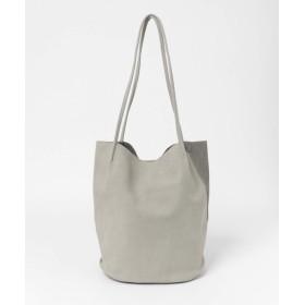 [センスオブプレイス] 鞄 トートバッグ ヌバック風バイカラーソフトトート レディース GRAY FREE