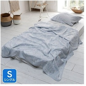 Fab the Home タオルケット・ガーゼケット ブルー シングル(140x200cm) エイジア FH251506-380