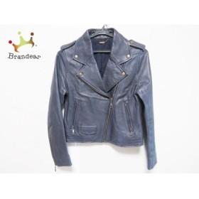 リリーブラウン Lily Brown ライダースジャケット サイズ0 XS レディース 美品 ダークグレー 新着 20190809