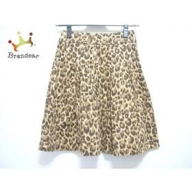 マニアニエンナ スカート サイズS レディース ベージュ×ダークブラウン×マルチ 豹柄 新着 20190809