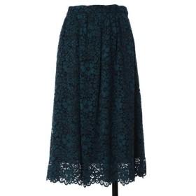 ef-de L / エフデ(エルサイズ) 《大きいサイズ》総レースギャザースカート 《Maglie White》