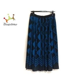 ジユウク 自由区/jiyuku ロングスカート サイズ40 M レディース 美品 ブルー×黒 新着 20190809