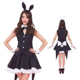 コスプレ パーティー バニーガール ブラック ハロウィン うさ耳 ウサミミ ウサギ セクシー バニー 衣装